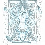 Alicja pod ziemią, projekt plakatu dla teatru Boto