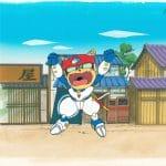 Samurai Pizza Cats, A12 (folia animacyjna i malowane tło)